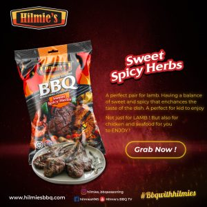 FREE DELIVERY Serbuk Rempah bbq HILMIE'S – (3 set – Pek Kombo 4 in 1) Sem. M'sia shj)