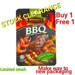 (Stock Clearance – Buy 1 Free 1) Rempah bbq HILMIE'S (Herby Spicy 40g)